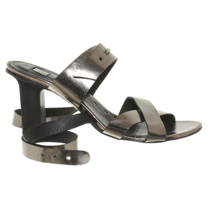 Marithé et Francois Girbaud Sandals in metallic look