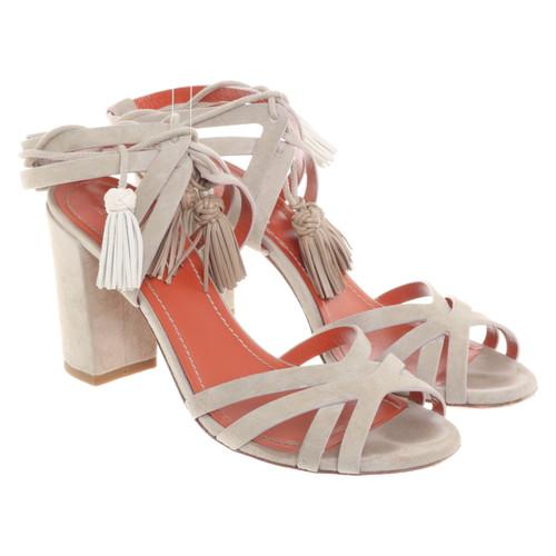 bfb8733343c Santoni Sandals Suede in Grey - Second Hand Santoni Sandals Suede in ...