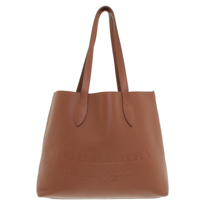 Burberry Shopper with embossed logo