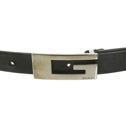 Gucci Cintura in pelle in Black