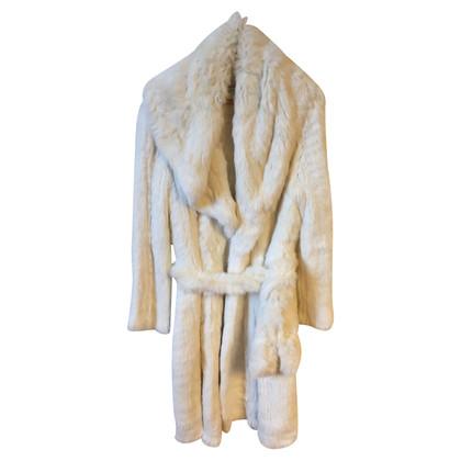Balmain Cappotto di pelliccia di coniglio