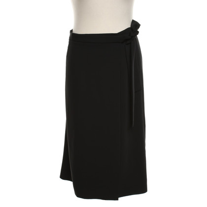 Piu & Piu Wrap skirt in black