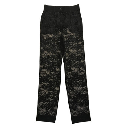 Dolce & Gabbana trousers made of lace