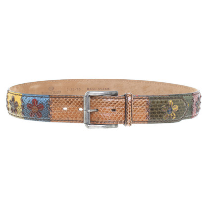 Fausto Colato Snake leather belt