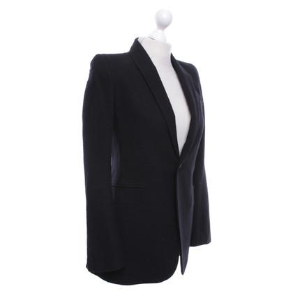 Rick Owens Lunga giacca in nero