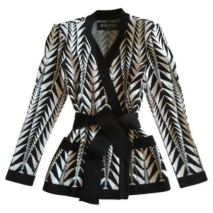 Balmain Jackets wit / zwart maat 38 FR