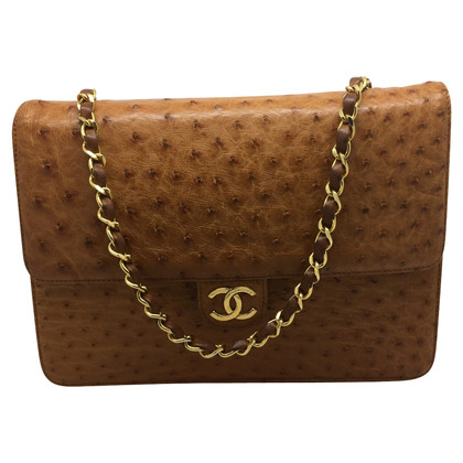Chanel Chanel vintage ostrich hazelnut