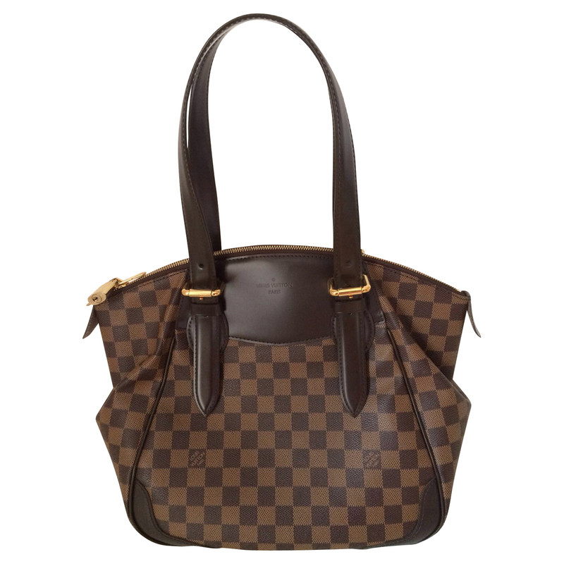 louis vuitton tasche verona mm aus damier eb ne canvas second hand louis vuitton tasche. Black Bedroom Furniture Sets. Home Design Ideas