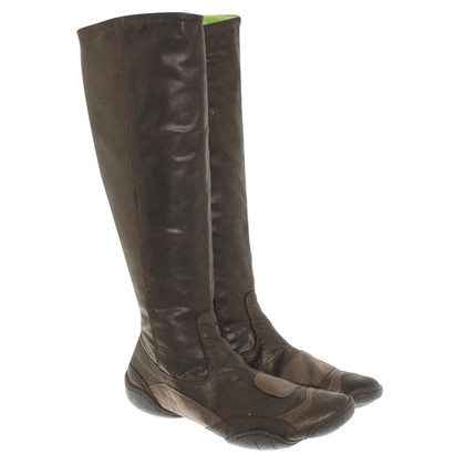 Marithé et Francois Girbaud Boots in brown metallic
