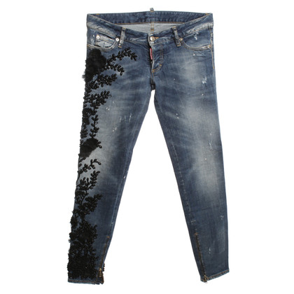 Dsquared2 Jeans with beaded trim