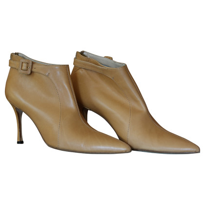 Manolo Blahnik Leer enkel laarzen in bruin