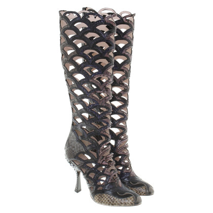 Miu Miu Boots with lace pattern