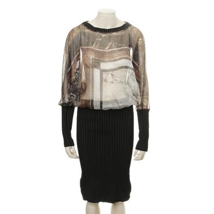 Jean Paul Gaultier Kleid im Materialmix