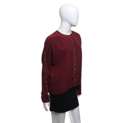 Dorothee Schumacher Silk blouse in Bordeaux