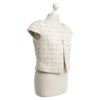 Escada Crème-kleurige boucle jacket