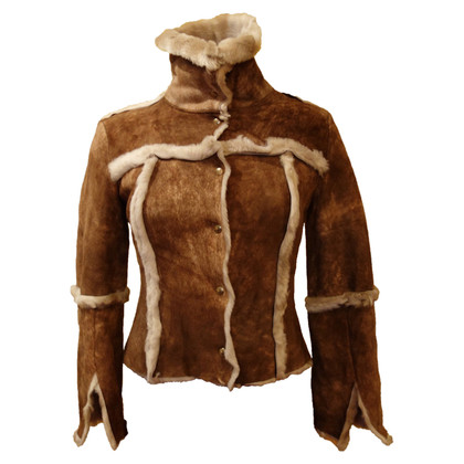 Patrizia Pepe Leather jacket with fur