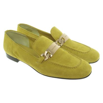 Jimmy Choo Loafers in lichtgroen
