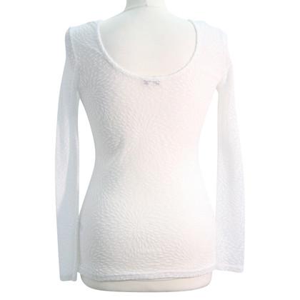 Reiss Transparent top in white