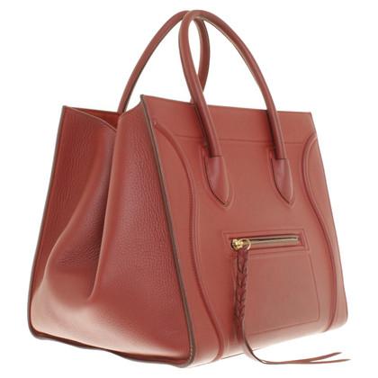 """Céline """"Phantom Bagage Bag"""" in het rood"""