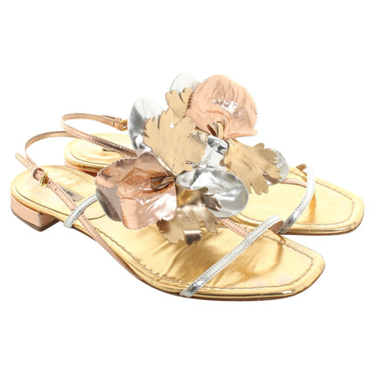 Miu Miu Sandalen in metallic