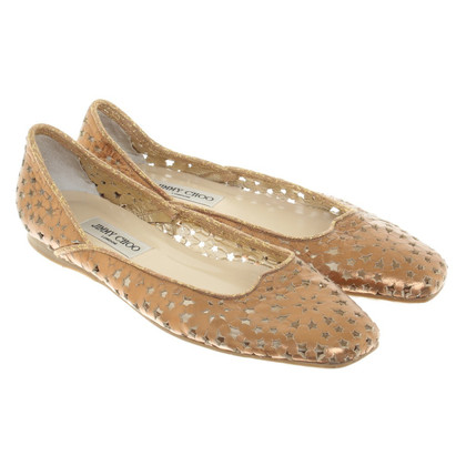 Jimmy Choo Ballerinas from bronze leather