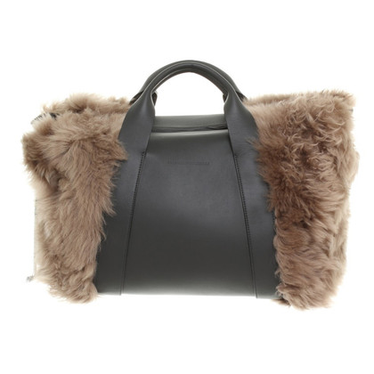 Brunello Cucinelli Leather/fur handbag