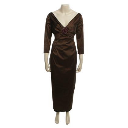 Talbot Runhof Elegantes Abendkleid in Braun