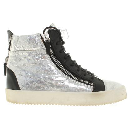 Giuseppe Zanotti Silver colored sneakers