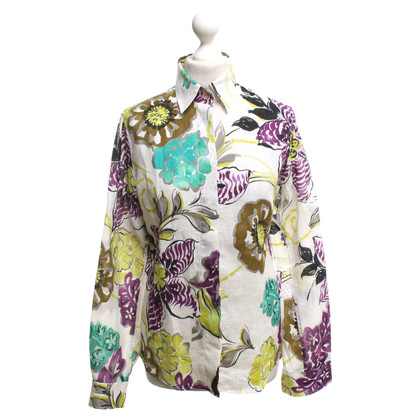 Etro Linen blouse with floral pattern