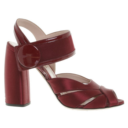 Miu Miu Sandalen in Bordeaux