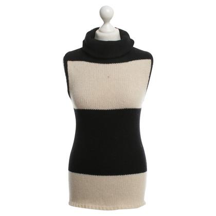 Yohji Yamamoto Sleeveless sweater with scarf