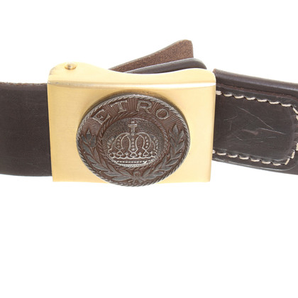 Etro Leather belt dark brown