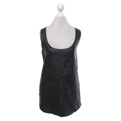 Majestic Top in cotton / leather