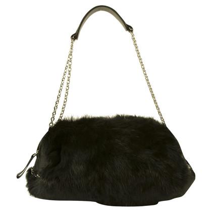 DKNY Shoulder bag with fur