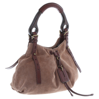 Hugo Boss Suede leather handbag in Brown