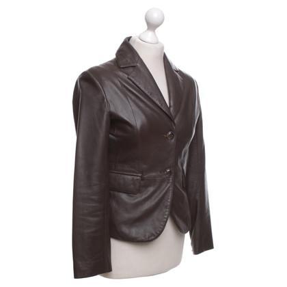 Stefanel Leather jacket in brown