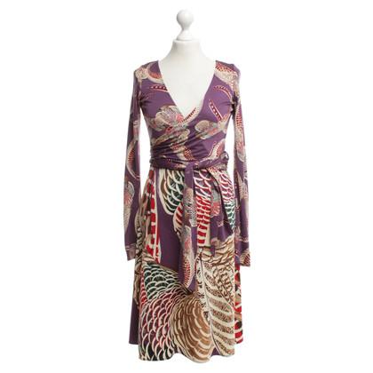 Issa robe portefeuille multicolore