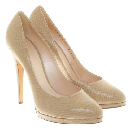 Casadei pumps with reptile embossing
