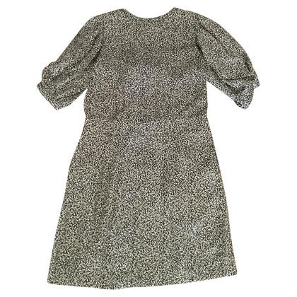 Balenciaga zijden jurk met patroon