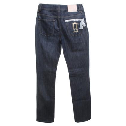 John Galliano Jeans en bleu foncé