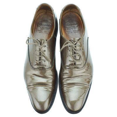 6be2e2f5061 Church s Lace-up shoes Patent leather in Olive