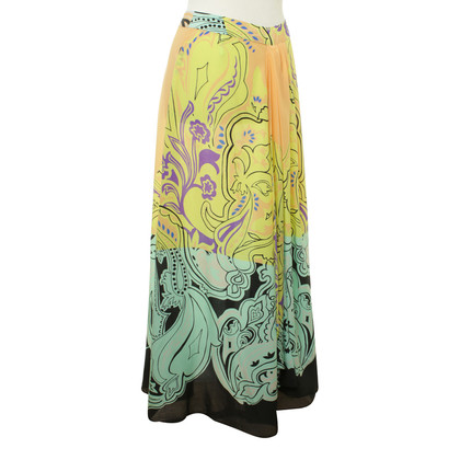 Etro Silk skirt with print