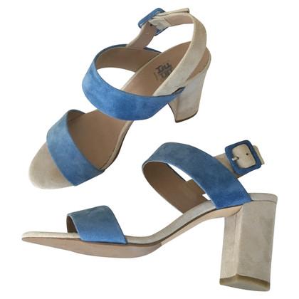 Riani Sandaletten in Hellblau/Beige
