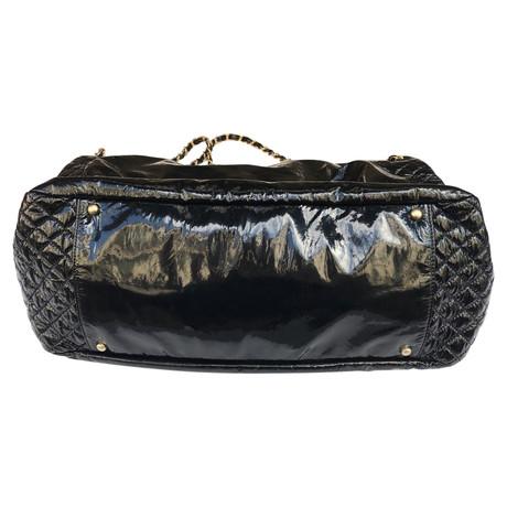 Chanel Tasche aus Lackleder Schwarz Freies Verschiffen Versorgung QBB4HzvuN