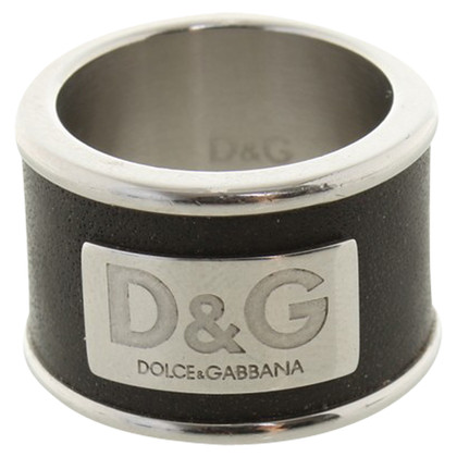 Dolce & Gabbana Ring with leather trim