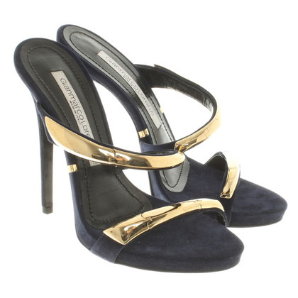 Gianmarco Lorenzi Mules in dark blue
