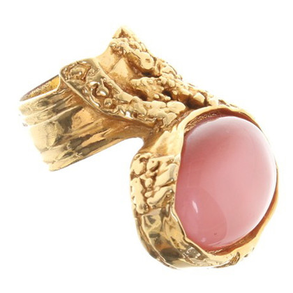 Yves Saint Laurent Goldfarbener Ring mit Zierstein