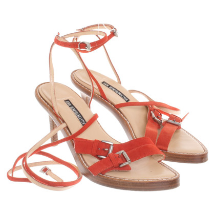 Ann Demeulemeester Sandals in coral red