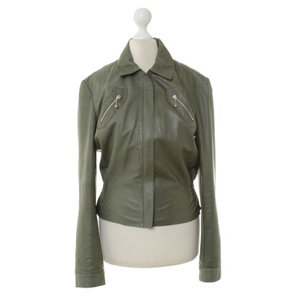 Paul Smith Olive lederen jas