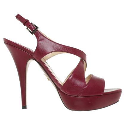 Prada Sandals in berry colors